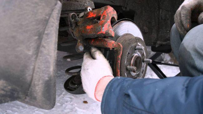 Замена задних тормозных колодок на ix35 своими руками 26