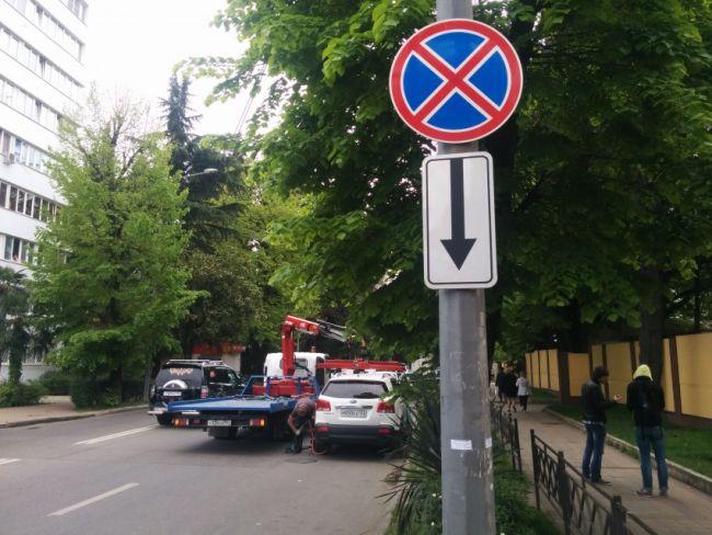Запрещена остановка знаком транспортного под средства