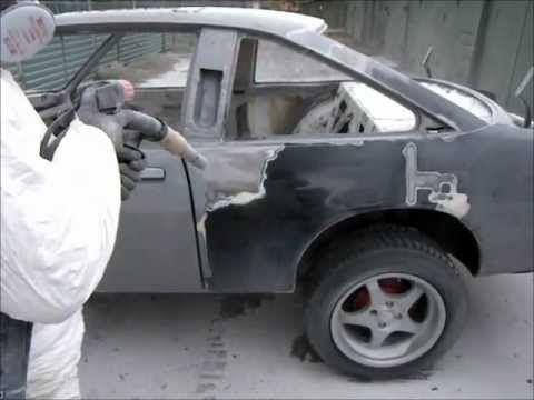 Удаляем старую краску с автомобиля