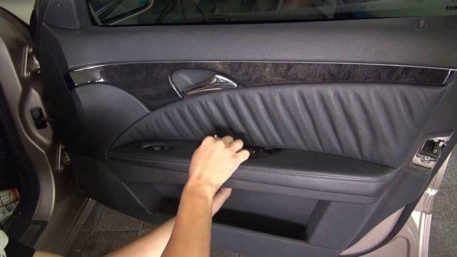 Снятие обшивки и двери Mercedes W211