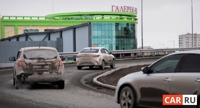 город, развязка, въезд, мост, машины
