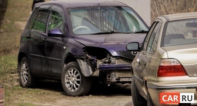 машина, повреждения, ДТП, авария, фара, разбита