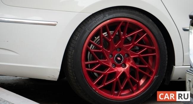 машина, колесо, диск, красный