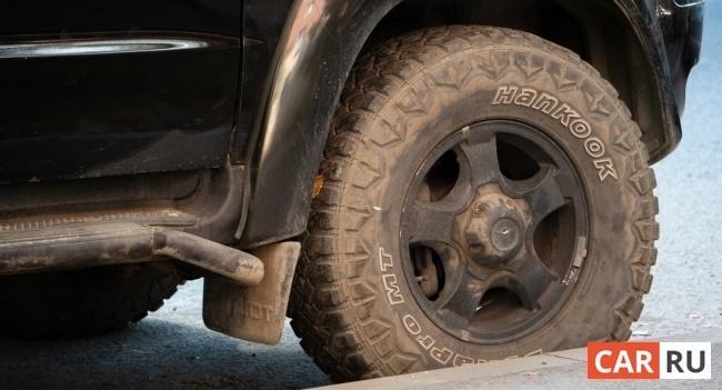 колесо, грязное, hankook