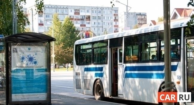 автобус, город, общественный транспорт, остановка