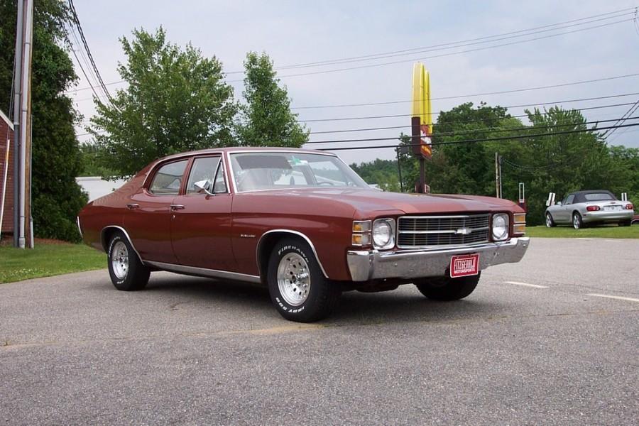 Chevrolet Chevelle седан, 1971, 2 поколение [3-й рестайлинг] - отзывы, фото и характеристики на Car.ru