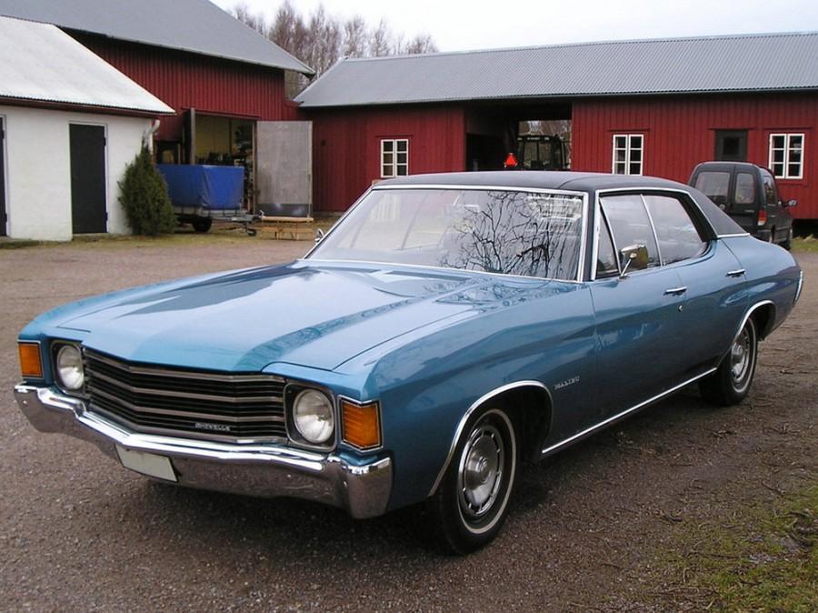 Chevrolet Chevelle Sport Sedan хардтоп, 1972, 2 поколение [4-й рестайлинг] - отзывы, фото и характеристики на Car.ru