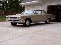 Chevrolet Chevelle, 1 поколение [3-й рестайлинг], Седан 2-дв., 1967