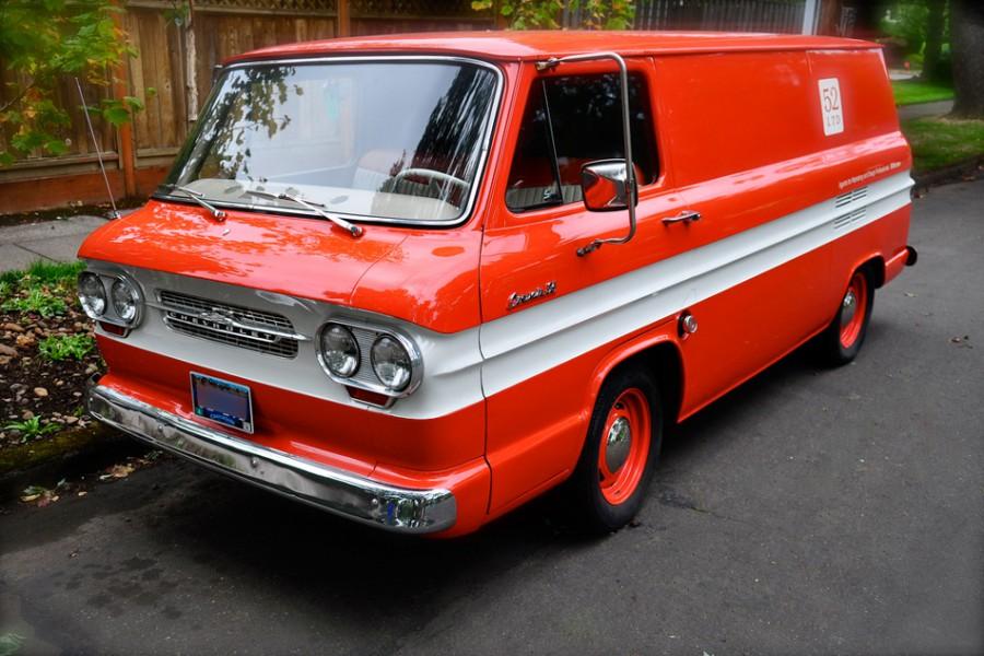 Chevrolet Corvair Greenbrier Sportswagon микроавтобус, 1961–1965, 1 поколение [рестайлинг] - отзывы, фото и характеристики на Car.ru