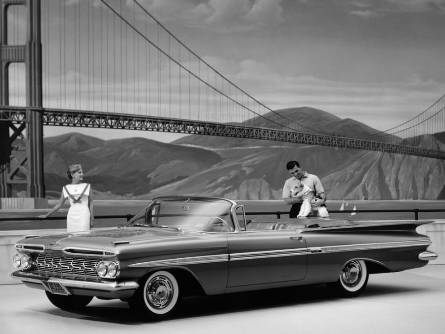 Chevrolet Impala кабриолет, 1959, 2 поколение - отзывы, фото и характеристики на Car.ru