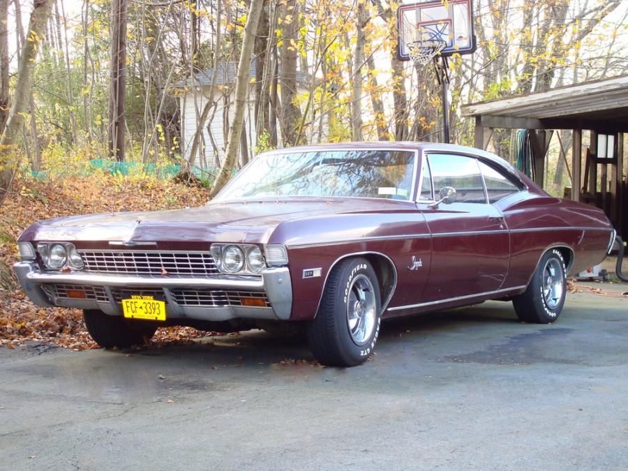 Chevrolet Impala купе 2-дв., 1968, 4 поколение [3-й рестайлинг] - отзывы, фото и характеристики на Car.ru