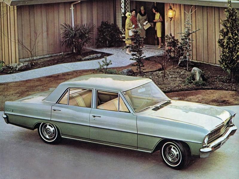 Chevrolet Nova седан, 1966, 2 поколение - отзывы, фото и характеристики на Car.ru