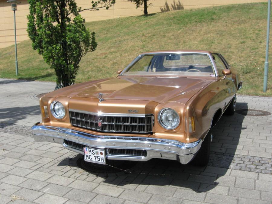 Chevrolet Monte Carlo купе, 1975, 2 поколение [2-й рестайлинг] - отзывы, фото и характеристики на Car.ru