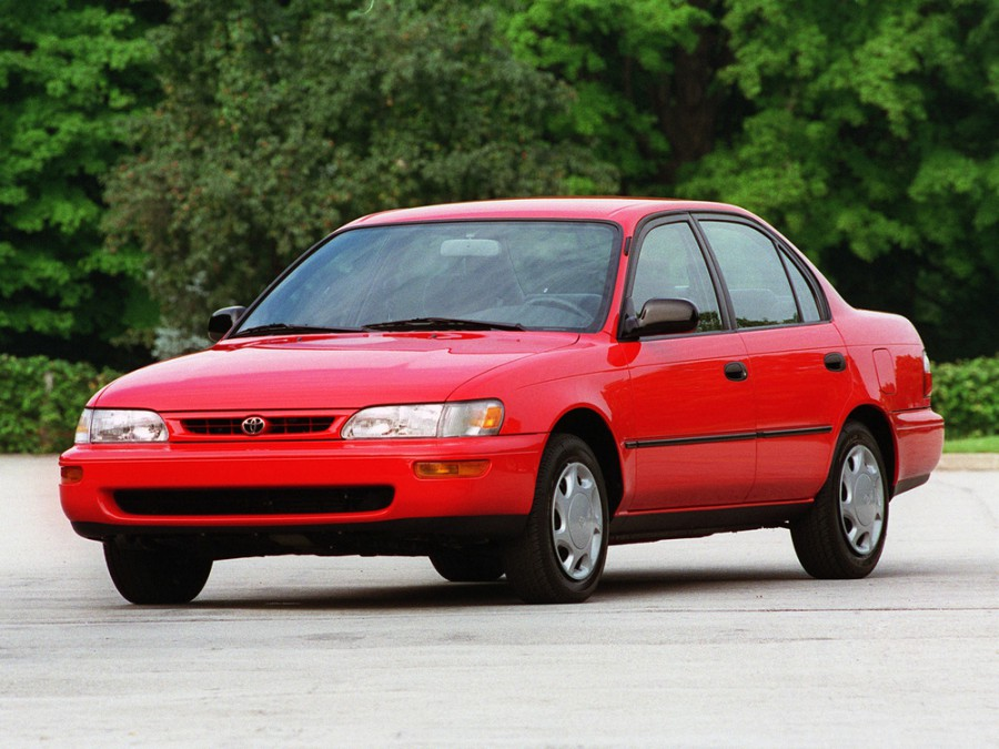 Toyota Corolla седан, 1993–2000, E100 [рестайлинг] - отзывы, фото и характеристики на Car.ru