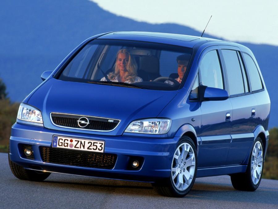 Opel Zafira OPC минивэн 5-дв., 1999–2003, A - отзывы, фото и характеристики на Car.ru