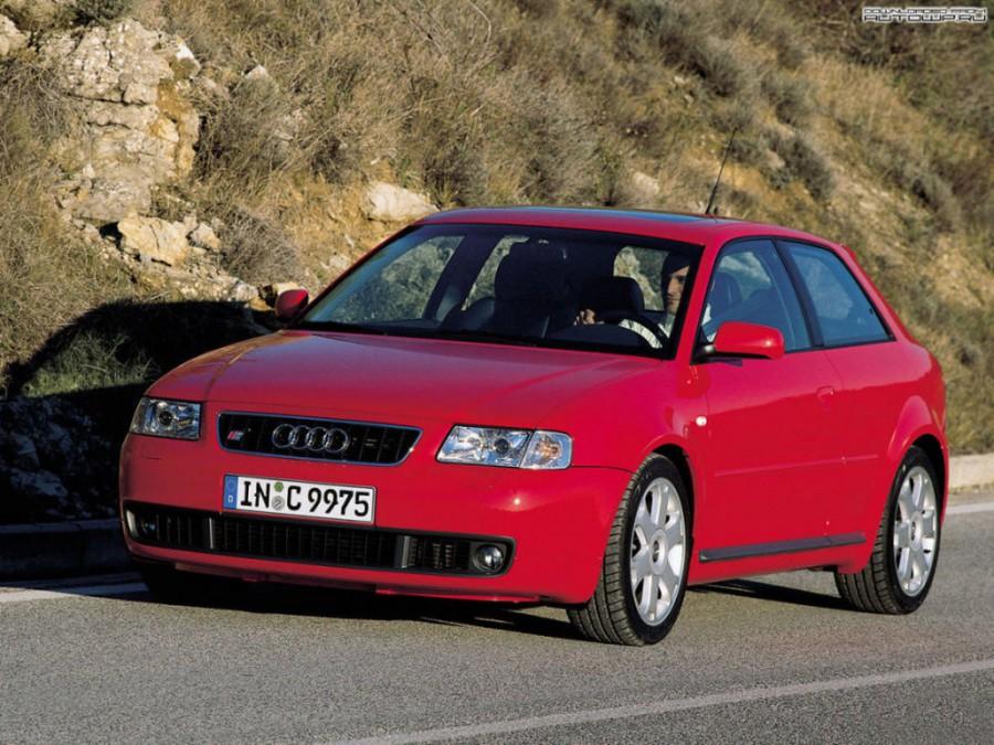 Audi S3 хетчбэк, 1999–2001, 8L, 1.8 T quattro MT (210 л.с.), характеристики