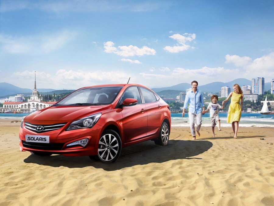 Hyundai Solaris седан, 2014–2016, 1 поколение [рестайлинг] - отзывы, фото и характеристики на Car.ru