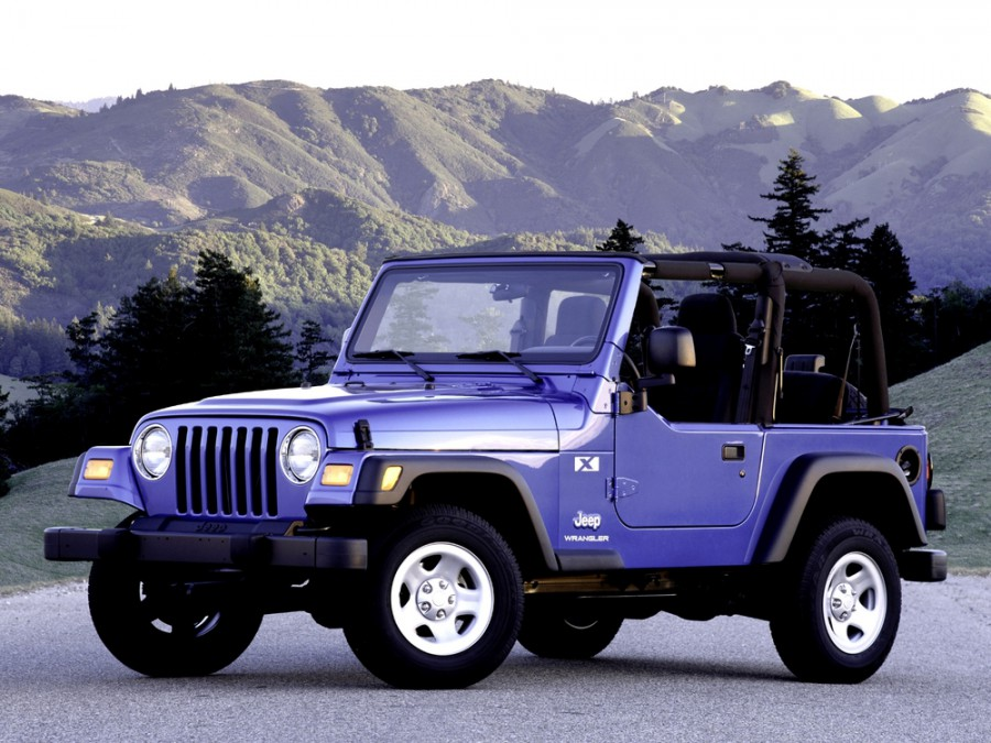 Jeep Wrangler кабриолет, 1997–2006, TJ, 2.5 MT (121 л.с.), характеристики