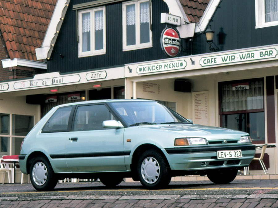 Mazda 323 хетчбэк 3-дв., 1989–1995, BG, 1.6 AT (87 л.с.), характеристики
