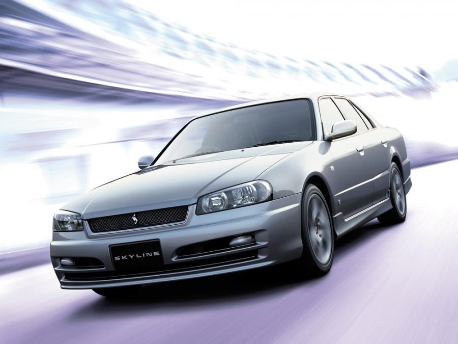 Nissan Skyline седан, 1998–2002, R34 - отзывы, фото и характеристики на Car.ru