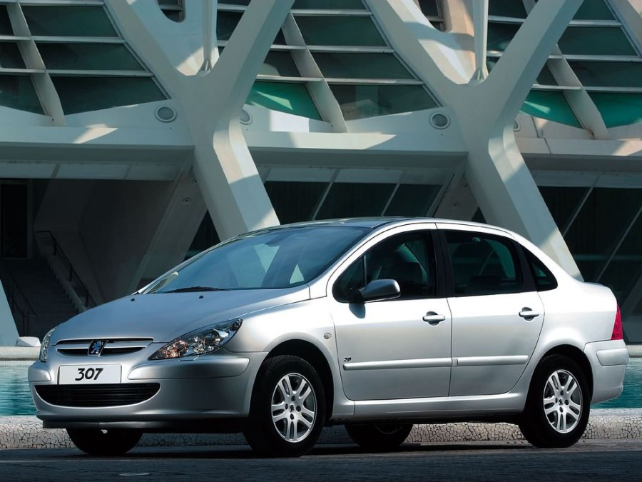 Peugeot 307 седан, 2001–2005, 1 поколение - отзывы, фото и характеристики на Car.ru