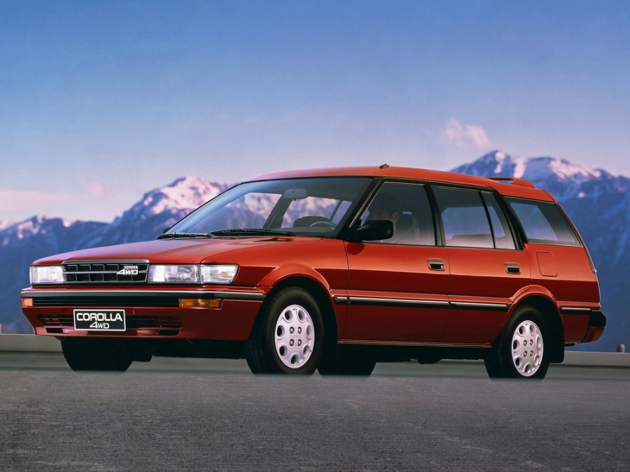 Toyota Corolla All-trac универсал 5-дв., 1987–1991, E90 - отзывы, фото и характеристики на Car.ru