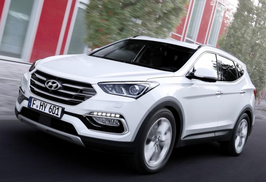 Hyundai Santa Fe Premium кроссовер, 2015–2016, DM [рестайлинг] - отзывы, фото и характеристики на Car.ru