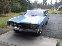 Chevrolet Chevelle, 2 поколение [3-й рестайлинг], Concours station wagon универсал 5-дв., 1971