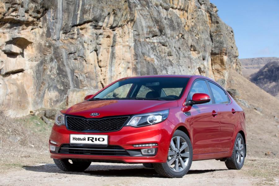 Kia Rio седан, 2015–2016, 3 поколение [рестайлинг] - отзывы, фото и характеристики на Car.ru