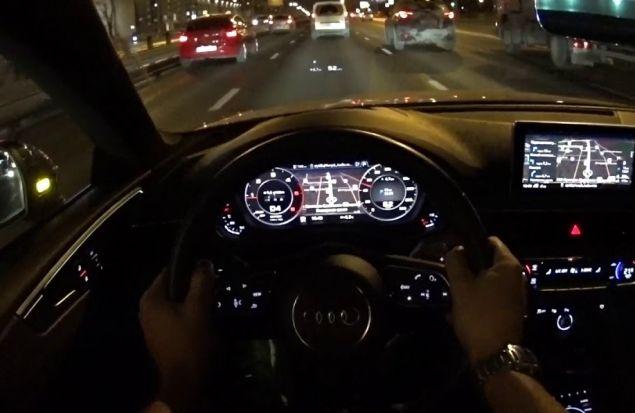 За рулем нового Audi A5 Coupe по ночной Москве. Присоединяйся.