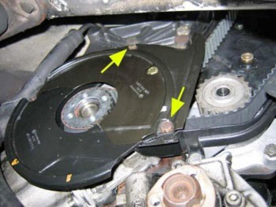 Нижняя часть кожуха зубчатого ремня VW Transporter 2.5 TDI