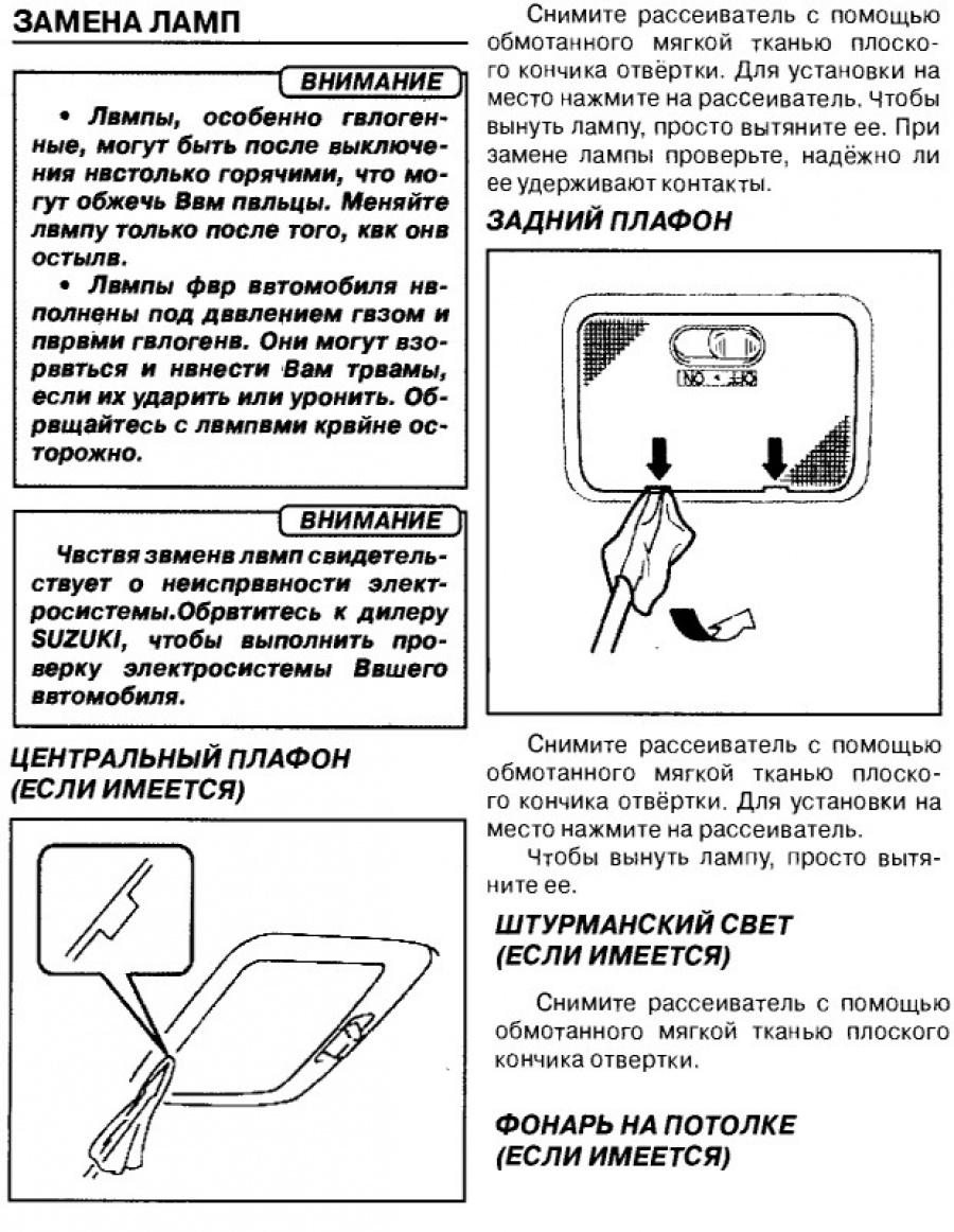 Инструкция по замене лампочек Гранд Витара 2
